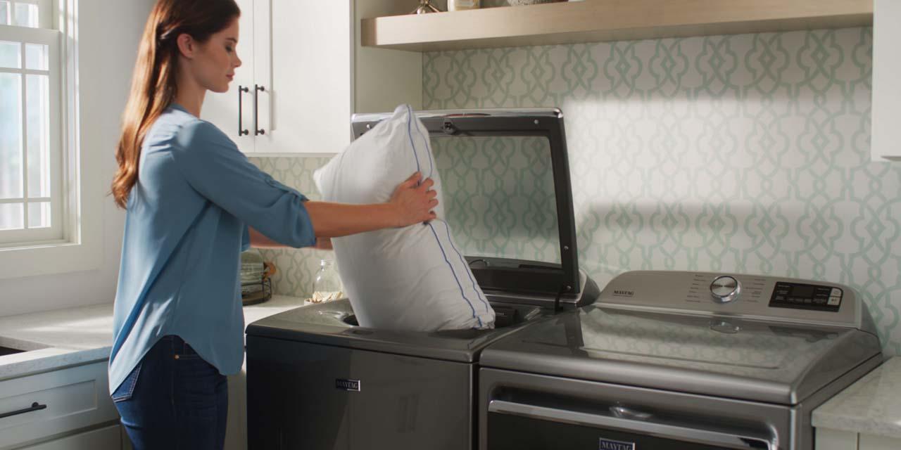 cuci bantal di mesin cuci